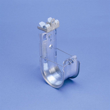 """CADDY CAT HP J-Hook with Hammer-On Flange Clip, Swivel, 1"""" dia, 5/16""""–1/2"""" Flange"""