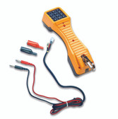 19800003: Fluke Networks TS19 Telephone Test Set with Banana Jacks to Alligator Clips