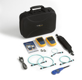 MFTK1200: Fluke Networks MultiFiber Pro Testing Base Kit, Includes MultiFiber Pro Power Meter, 850 Light Source, Test Cords, MPO adapters, and Case, Fiber Tester Accessory