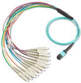 BKC-MPO-USC: Fluke Networks Breakout Cord for MPO SC Unpinned Connector, 1m Cable Length, Fiber Tester Accessory