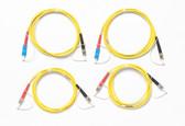 SRC-9-SCST-KIT: Fluke Networks Singlemode Test Reference Cord Kit for Testing ST Terminated Fibers, 2m Length, 2 SC/ST, 2 ST/ST Male Network, Fiber Tester Accessory