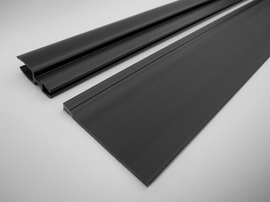 """10163-421   Bi-Directional Door Gap Seal Kit, 42RMU, 1""""W-1.75""""W, Black"""
