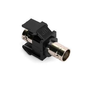 41084-BEF: Leviton QuickPort® BNC Module, Black