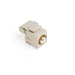 40735-RWI: Leviton QuickPort RCA 110-Type, White Barrel, Color Ivory