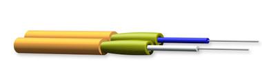 002K51-31130-24: Corning Zipcord Tight-Buffered Cable, Riser, 2 F, 2.8 mm diameter, 62.5 µm multimode (OM1)