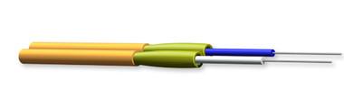 002K51-31330-24: Corning Zipcord Tight-Buffered Cable, Riser, 2 F, 2.0 mm diameter, 62.5 µm multimode (OM1)