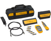 MS-POE-KIT | Fluke Networks: Microscanner PoE Professional Kit with Intellitone Pro 200 Probe and Remote ID kit