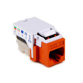 RJ45FC6-ORN | Hellerman Tyton: Cat6 Keystone Jack, Orange