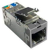 760238122 | Commscope:  Uniprise SLX Series Modular Jack, Category 6A, shielded , 4 Pair, without dust cover, gray