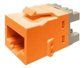 760237655 | CommScope Uniprise CAT6 Keystone Jack, Orange