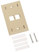 M12L-246: Uniprise® L Type Flush Mounted Faceplate, 2 port ivory
