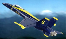 "F-18 Hornet US Navy ""Blue Angels"""