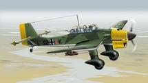JU-87 Stuka Luftwaffe WWII Yellow Nose