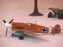"""BF-109 Messerschmitt Luftwaffe """"Marseille"""""""