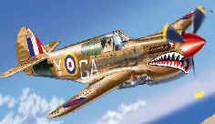 """P-40 Kittyhawk U.K. RAF """"Shark"""" Mk. I"""