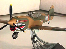"""P-40E Warhawk American Volunteer Group (AVG) """"Flying Tigers"""" Hand Signed by Tex Hill"""