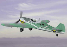 """BF-109 Messerschmitt Luftwaffe 111/JG 52""""Black 13"""""""