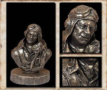 "Sculpted Figures ""Fighter Pilot Bust"" Garman Sculptures"