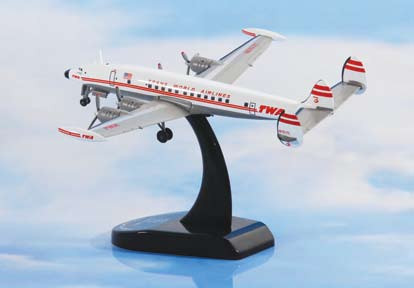 TWA Airlines L-1049G Super Constellation Diecast Model