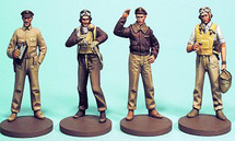 Metal Figures WWII US Aviation Aces- US Navy and USMC
