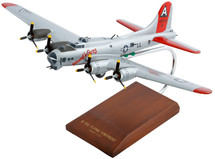 B-17G Fortress Silver 1/72 Blood and Guts Mahogany Display Model