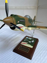 P-40 Tomahawk Tex Hill (signed on base plate)