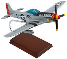 """P-51D MUSTANG SILVER """"OLD CROW"""" 1/24"""