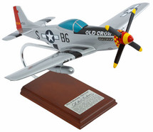P-51D MUSTANG OLD CROW 1/24 SIGNED BY BUD ANDERSON