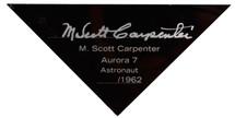 MERCURY CAPSULE 1/24 SIGNED BY SCOTT CARPENTER