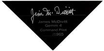 GEMINI IV CAPSULE 1/25 SIGNED BY JAMES MCDIVITT
