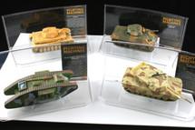 Collectors Set of Four History of Tank Warfare Corgi