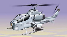 AH-1 Super Cobra US Marine Corps Desert Storm Diecast Display Model