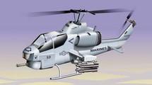 AH-1 Super Cobra US Marine Corps Desert Storm Diecast Display Model