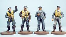 Metal Figures WWII British R.A.F. German Luftwaffe WWII Pilots