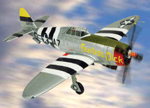 "P-47D RAZORBACK THUNDERBOLT - U.S.A.A.F. ""FEARLESS DICK"", 395 FG, 9TH AIR FORCE"