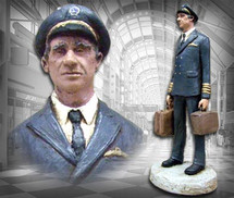 """Airline Captain"" Hand-Painted Sculpture Garman Sculptures"