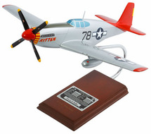 P-51C TUSKEGEE SIGNED BY CHARLES MCGEE 1/24
