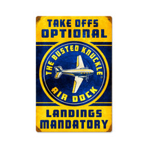 """Air Dock Vintage"" Pasttime Signs"