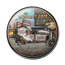 """Airplane Cafe Clock"" Pasttime Signs"