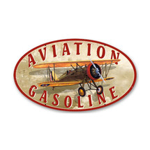 """Aviation Gasoline"" Pasttime Signs"