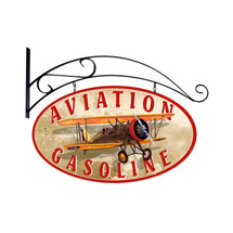 """Aviation Gasoline""   Pasttime Signs   PT-OS034"