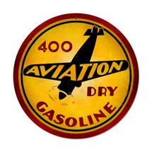"""Aviation Gasoline Round"" Pasttime Signs"