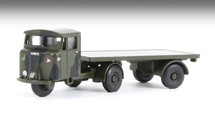 Mechanical Horse with Flatbed Trailer - Royal Army Service Corps