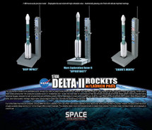 Delta II Rocket USAF, 3-Piece Set w/Launch Towers
