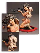 Scout Sniper Pin-Up Girl Sculpture Pacific Figures
