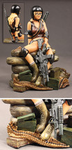 U.S. Army Delta Force Pin-up Girl Sculpture Pacific Figures