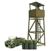 Kubelwagen - German Army, with Watch Tower and Figures