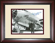 General Paul Tibbets, Enola Gay Pilot, framed photograph - signed by Paul Tibbets