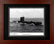USS Nautilus framed photograph Signed by Vice Admiral Eugene P. Wilkinson