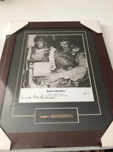 Band of Brothers framed photograph signed by Wild Bill Guarnere - matted to include M1 Garand bullet